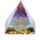 Orgonite pyramid Healing Crystal Gold Wire Orgone Pyramid Stone Figurine Energy Generator for Meditation Reiki Balancing