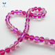 Wholesale China Glass Beads Pink Cat Eye Loose Beads For Jewelry Making