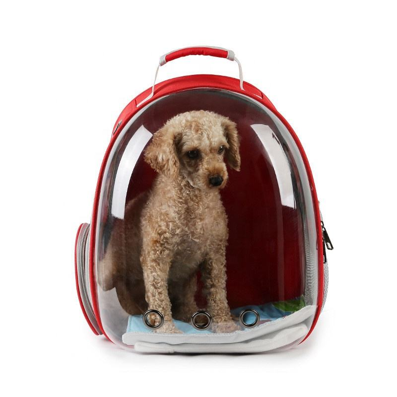 Breathable backpack out portable 3D space translucent Pet dog cat backpack bag