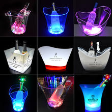 nightclub hotel ktv plastic beer champagne ice bucket tongs single bottle service bar ice bucket cooler