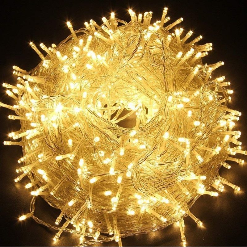 LED String Light 10M 20M 30M 50M 100M AC220V Xmas Holiday Light Waterproof Christmas Lights Indoor Outdoor 9 Colors Decoration