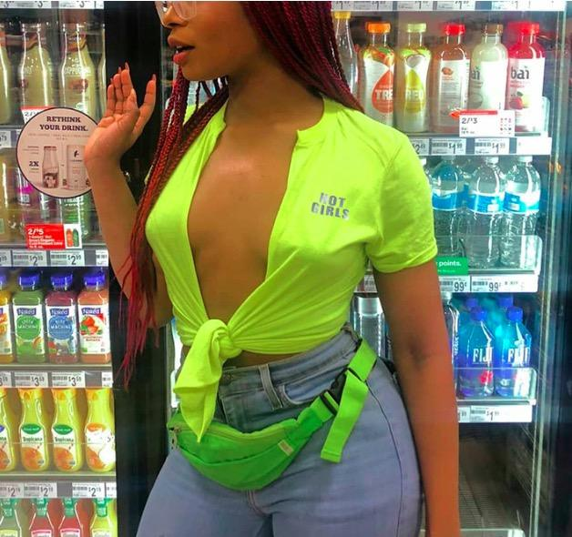 Neon Green Cropped Cardigan Blouse Shirt Fashion V Neck Ladies Crop Top 2019 Summer Women's Blouse