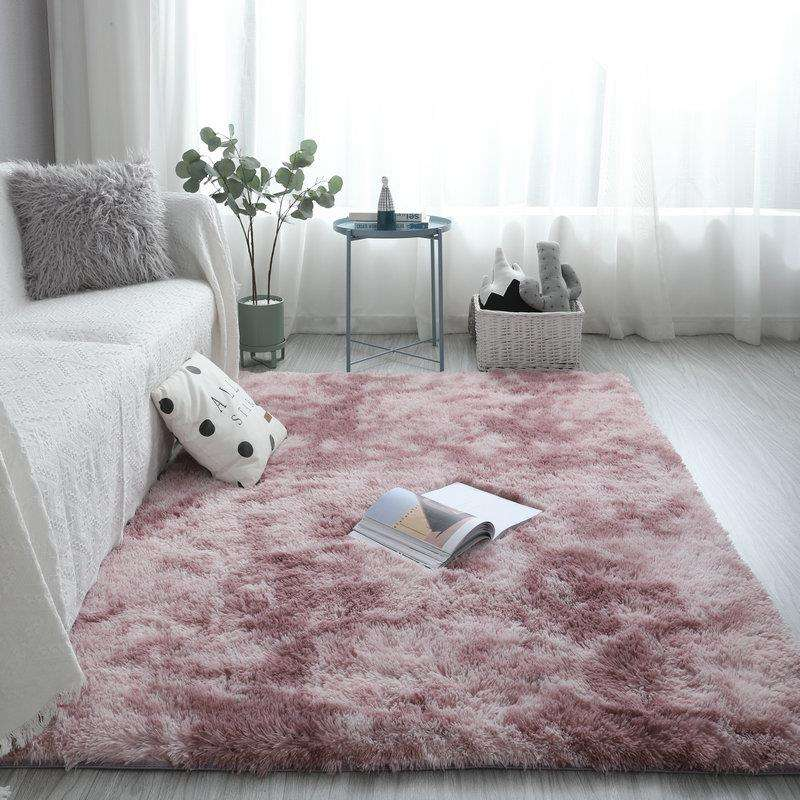Fluffy Custom Print 3d Iranian Microfiber Wall To Wall Tie-dye Rugs Floor Carpet For Living Room