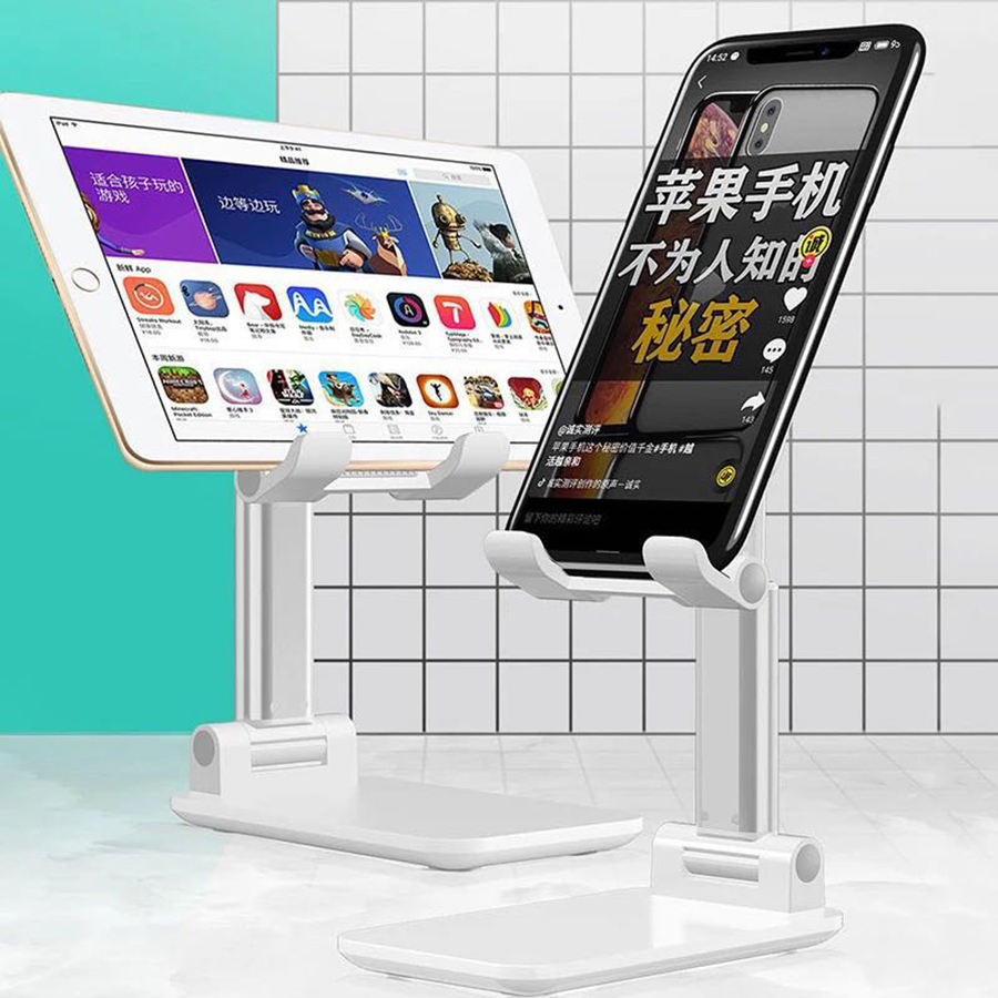 2020 Trending Universal Angle Adjustable Foldable Mobile Phone Desktop Stand Aluminum Alloy Tablet Cell Phone Stand Holder