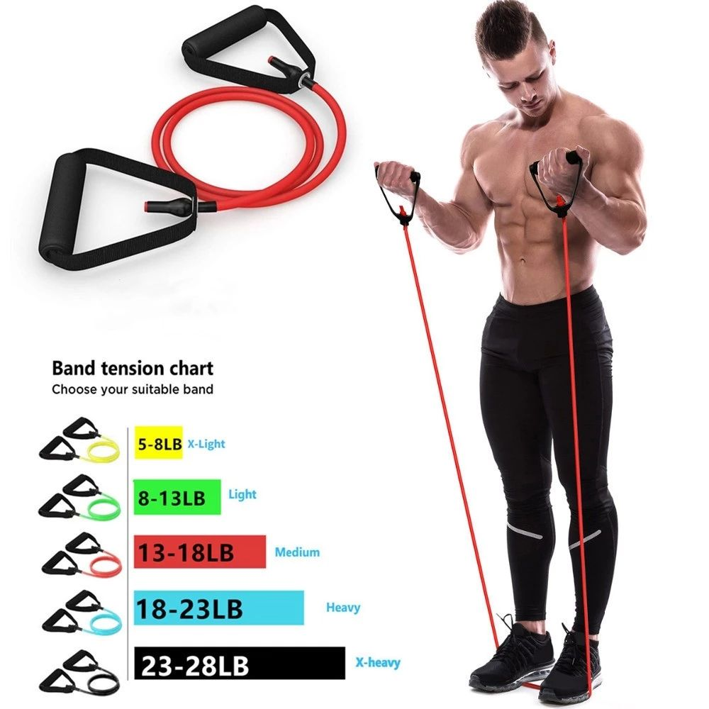 Gym Apparatuur Elastische Bands Voor Yoga Pull Touw Fitness Workout Fitness Weerstand Bands