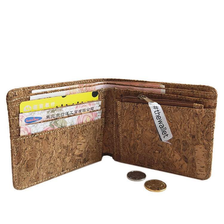 Cork products manufacturers slim OEM/ODM quality cork vegan rfid wallet men