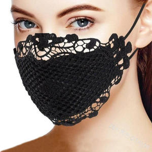 Hot sale sunscreen reusable face mask female breathable fashion lace mask for Halloween