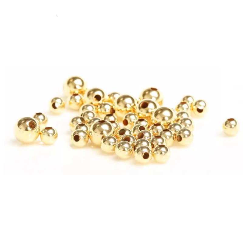 Smooth Round Seamless 14k Gold Filled Beads 2-10mm