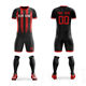 Wholesale Youth Football Uniforms Sports Football Jersey Printing Logo Soccer Team Wear