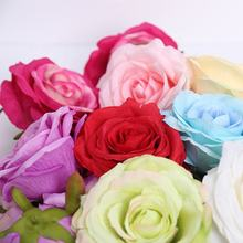X-1210 Wedding Wall Decoration 11CM Silk Artificial Rose Flowers Heads