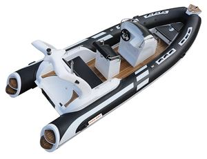 SAILSKI rippe boot 580 (fiberglas rumpf, Hypalon stoff, 8 person, 115hp außenborder)