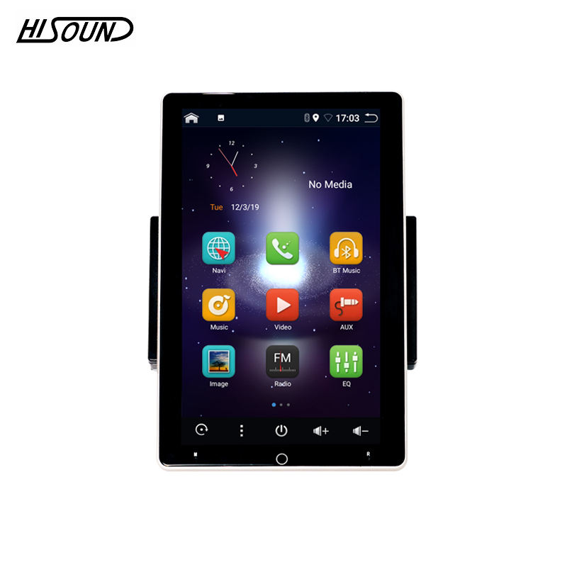 New design Android 9.0 10.1 inch automatic rotatable screen car radio Octa core 4+64G support bluetooth GPS