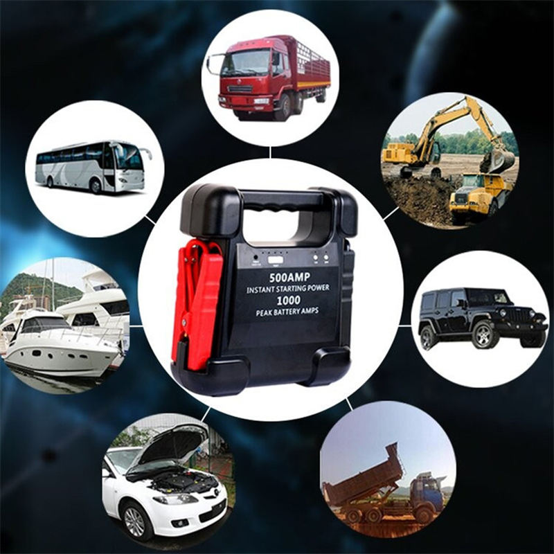 12V 24V Car Auto Jump Starter 20000mAh 24000mAh Battery Booster 250A 500A 800A 1000A 1200A Peak Current.