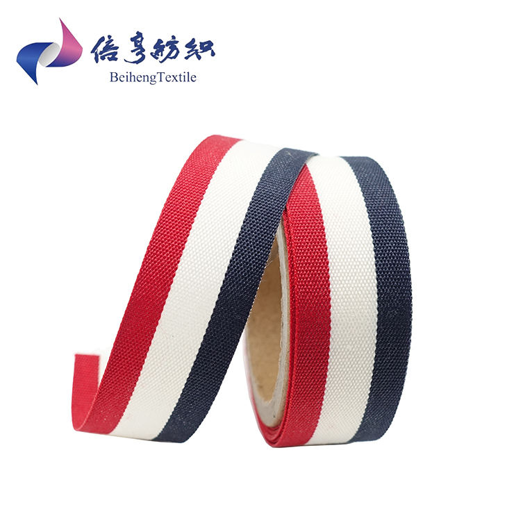 Cheap Custom Garment Printed Woven Jacquard Ribbon Polyester Cotton Webbing