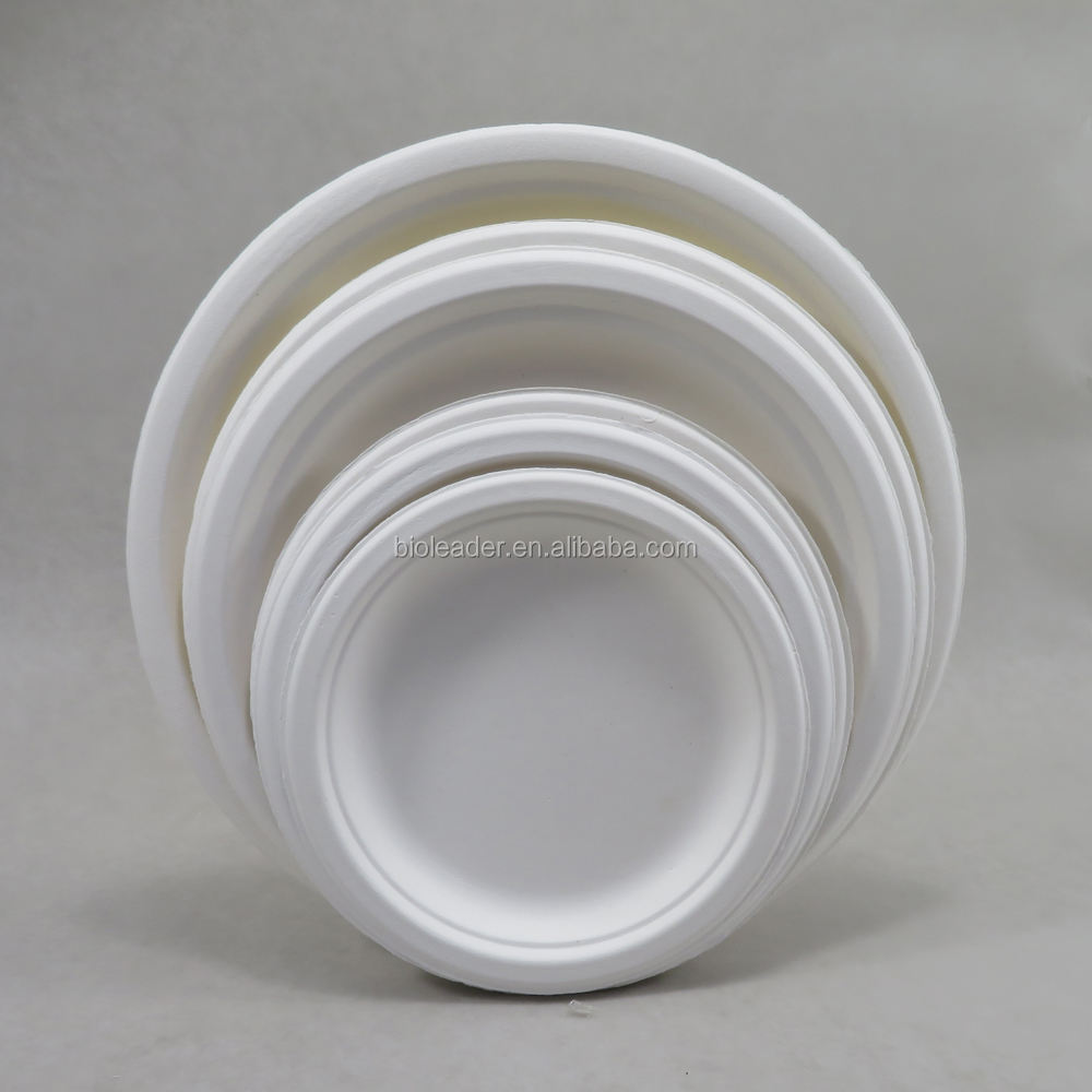 Compostable Disposable Sugarcane Bagasse Paper Pulp Mould Plates