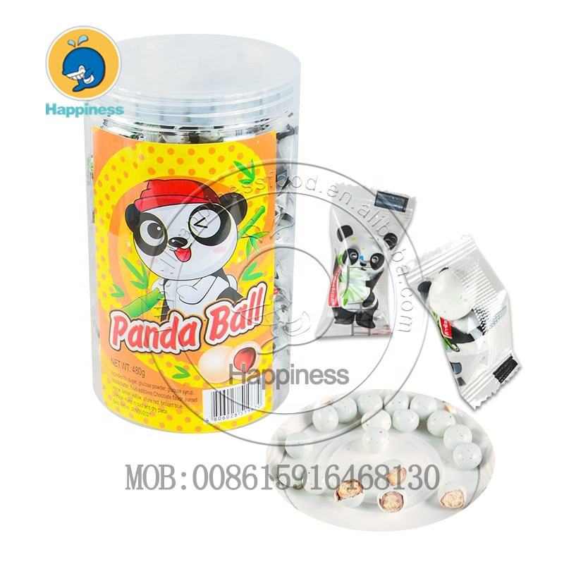 Halal croccante candy coated biscotto panda sfera di cioccolato