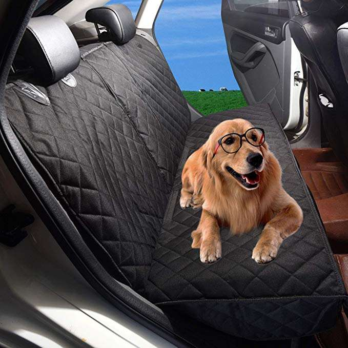 Waterproof Pet Car Rear Seat Protector ,Seat Cover Without Hammock for Cars, SUVs, and Small Trucks