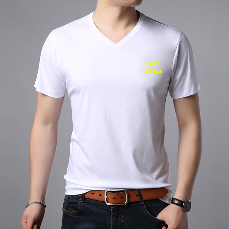 Fashion Basic Quick Dry Style Breathable V NeckMen T-shirts