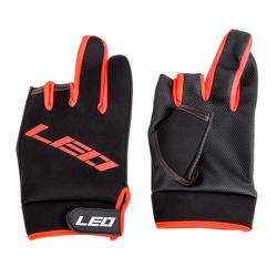 New Product Breathable Comfortable Portable Black Outdoor Fishing Gloves with Show Three-finger Design