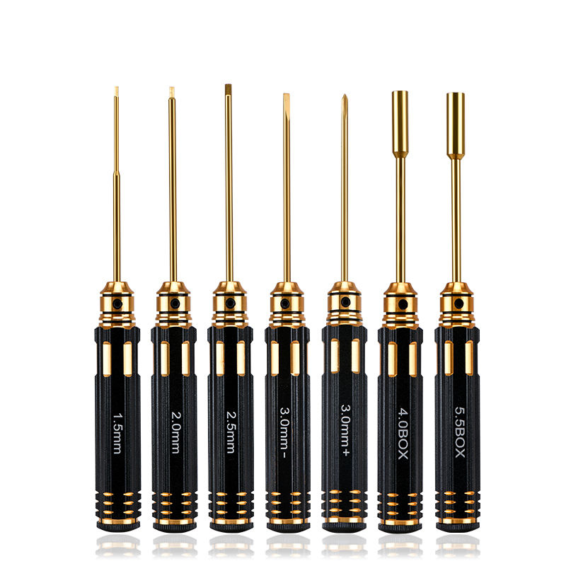 7 Piece Philips/Hex/Torx/Socket/Slotted screwdriver bits for RC hobby