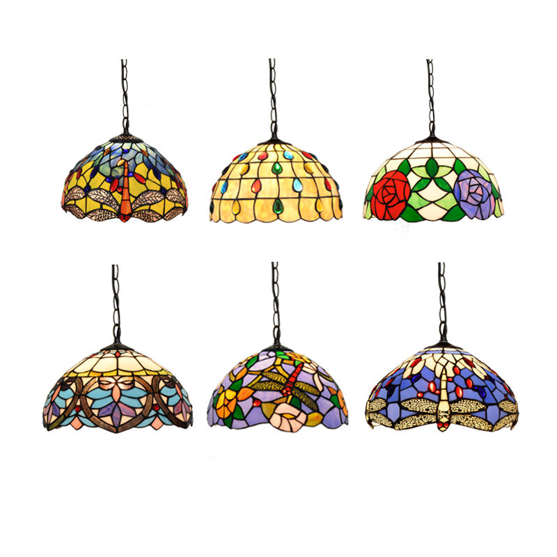 tiffany stained glass luxury led bar light restaurant kitchen bedroom balcony buy pendant lights retro chandeliers and lamps