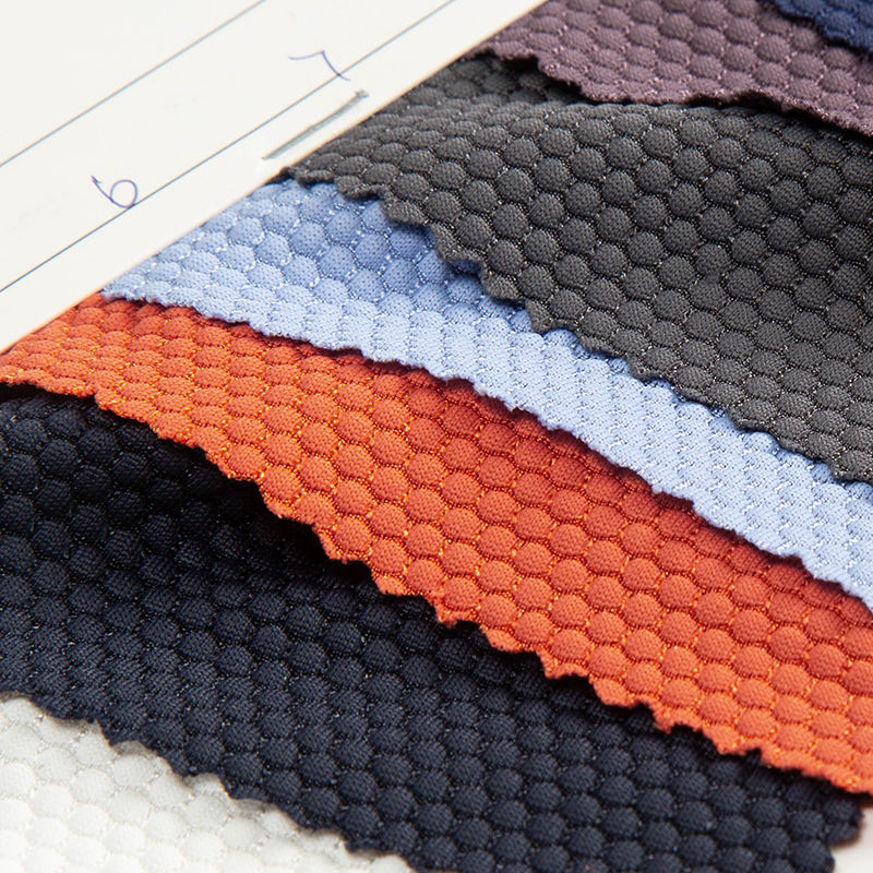 Manufacturer knitted stretch 96% nylon 4% spandex jersey honeycomb fabric for sport wear