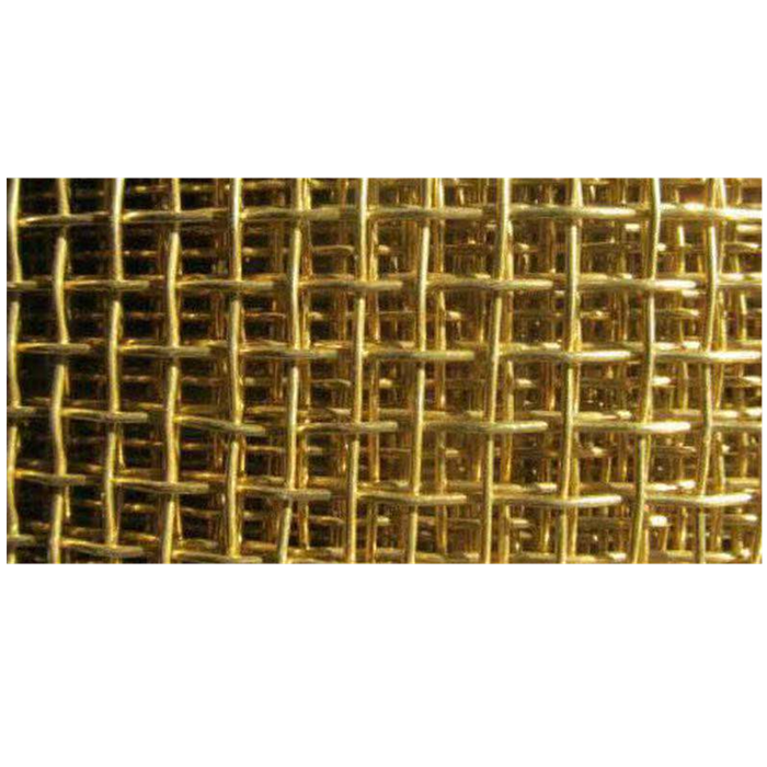 Electromagnetic shield 4 5 6 8 10 mesh red copper/brass /phosphor bronze crimped wire mesh