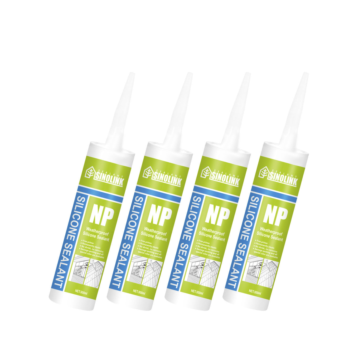 silicone fireproof sealant as glue and adhesive cartridge for windows