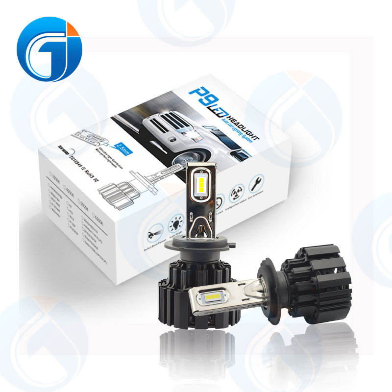JG P9 H4 100w 13600lm High Power OEM&ODM 6000K Canbus Automotive Grade LED Chip led Head Light H7 Super bright