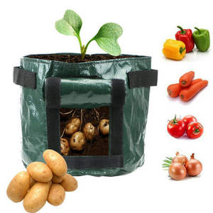 Vertical Fairy Garden Supplies DIY Potato Planting Flower Pot 2019 New Plant Growing Bag