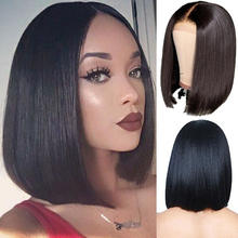 New high fashion human hair wigs good quality short women wigs black synthetic wigs