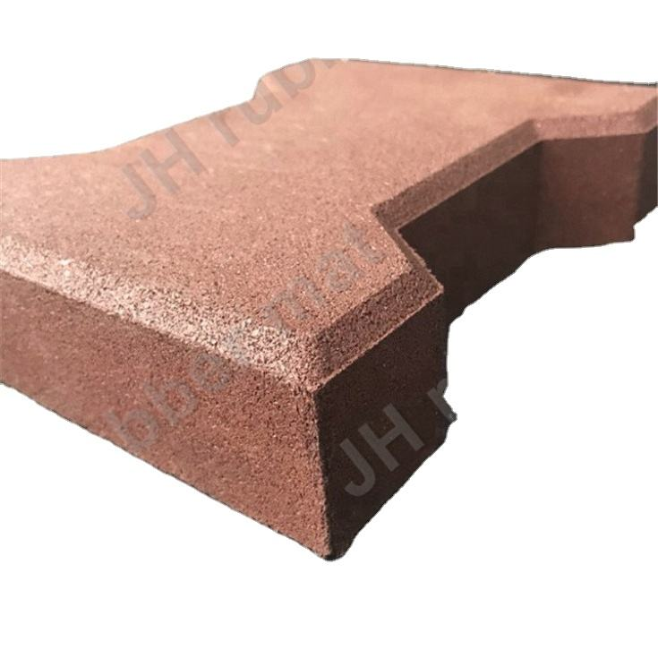 Economical And Aesthetical Rubber Paver Bricks Water Proof Non-Skid Easy Clean Recycled Rubber