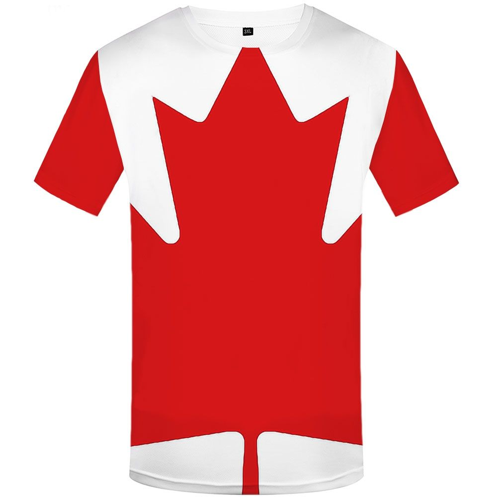 Funny T shirts Maple Leaf T-shirt Men Canadian Flag Tshirts Casual Canada T-shirts 3d Red Anime Clothes Harajuku Tshirt Printed
