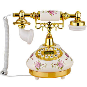 Wholesale Antique Decorative Old-fashioned Corded Ceramic fixed Telephone