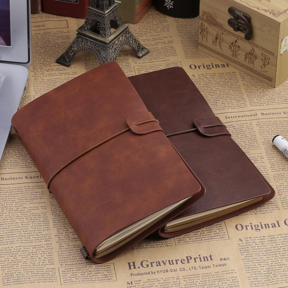 2021 High Quality Handmade Leather Vintage Travel JournalとRefillableためTaking Notes
