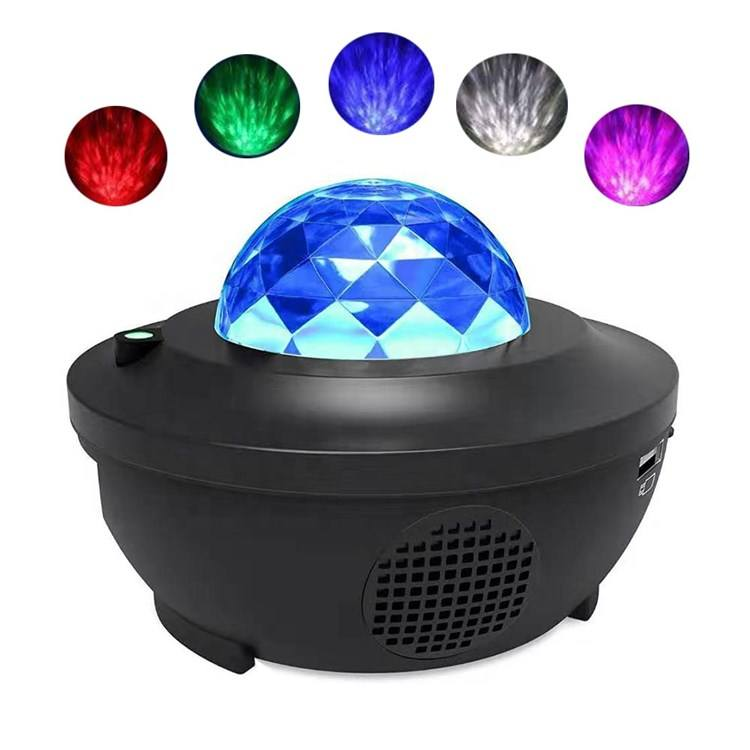 Kids Starry Sky LED Night Light Moon Star 360 Degree Rotation Projector for Room Decoration