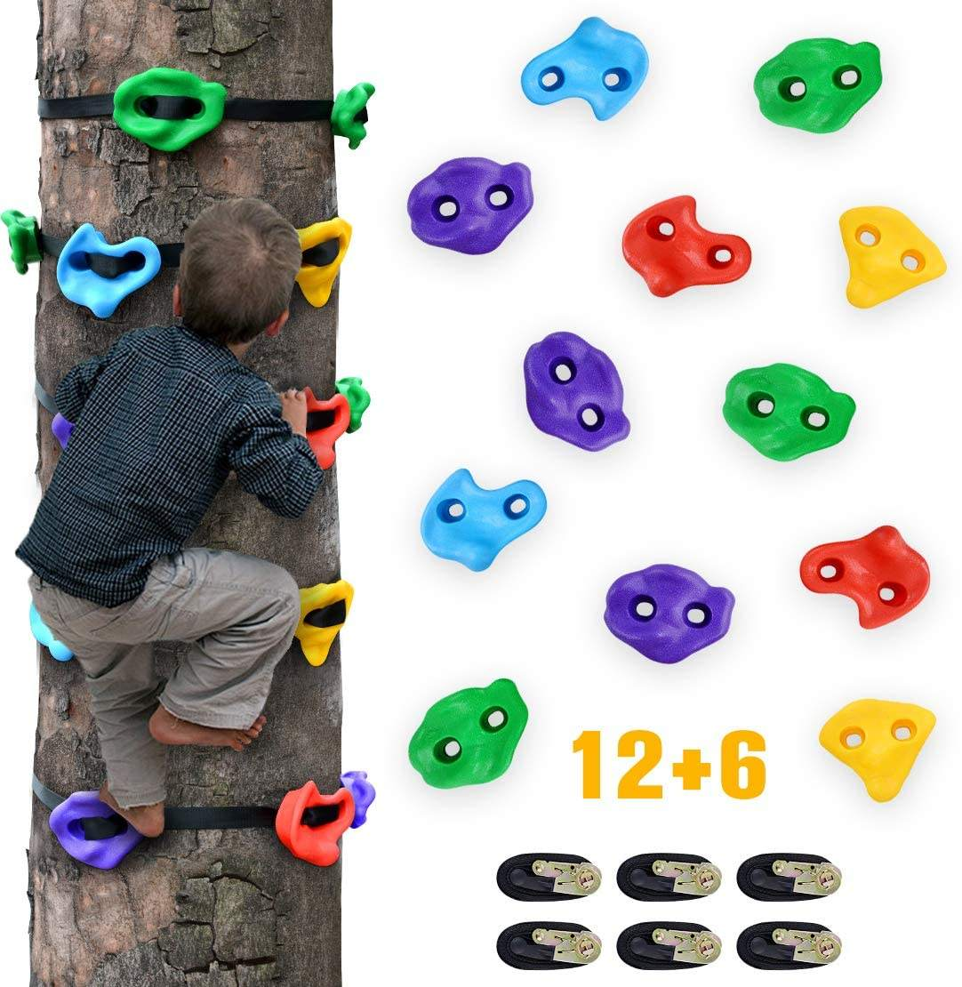 2020 Hot Sale Ninja Tree Climbing Holds for Kids with Ratchet Straps