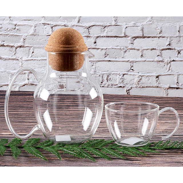 Heat Resistance Borosilicate Tea Pot and Coffer Pot Set with tea cup and coffer cup