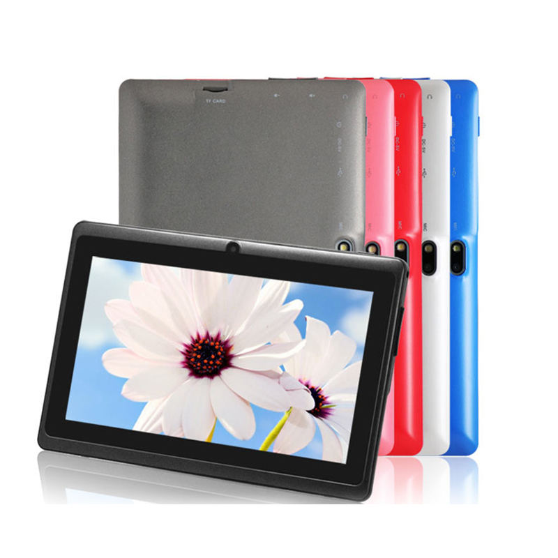 Bulk Großhandel Kinder Android Tablet 7 Zoll 1GB RAM 16GB ROM Android 6 All winner A33 Quad Core Tablet Android Q88