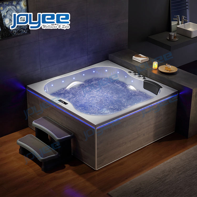 JOYEE luxury massage bathtub with jacuzzi function/ new design whirlpool bath tub with shower/ jacuzzi style Badewanne