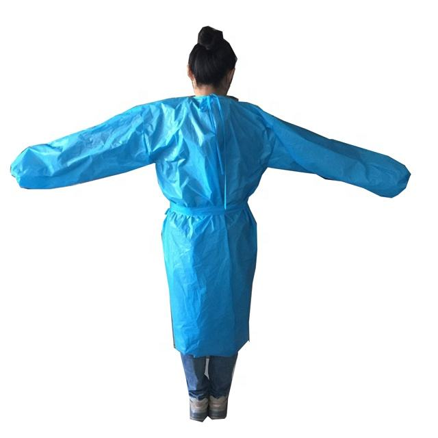 Disposable waterproof isolation PPE gown