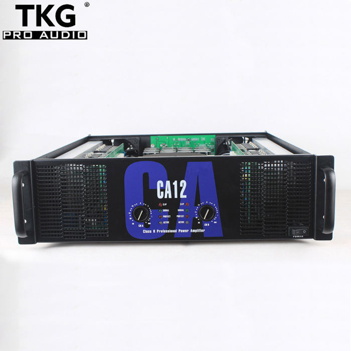 TKG 700 Watt 700 W 2 Saluran 3U Kelas H CA12 Kinerja Transformator Power Amp Amplifier Speaker