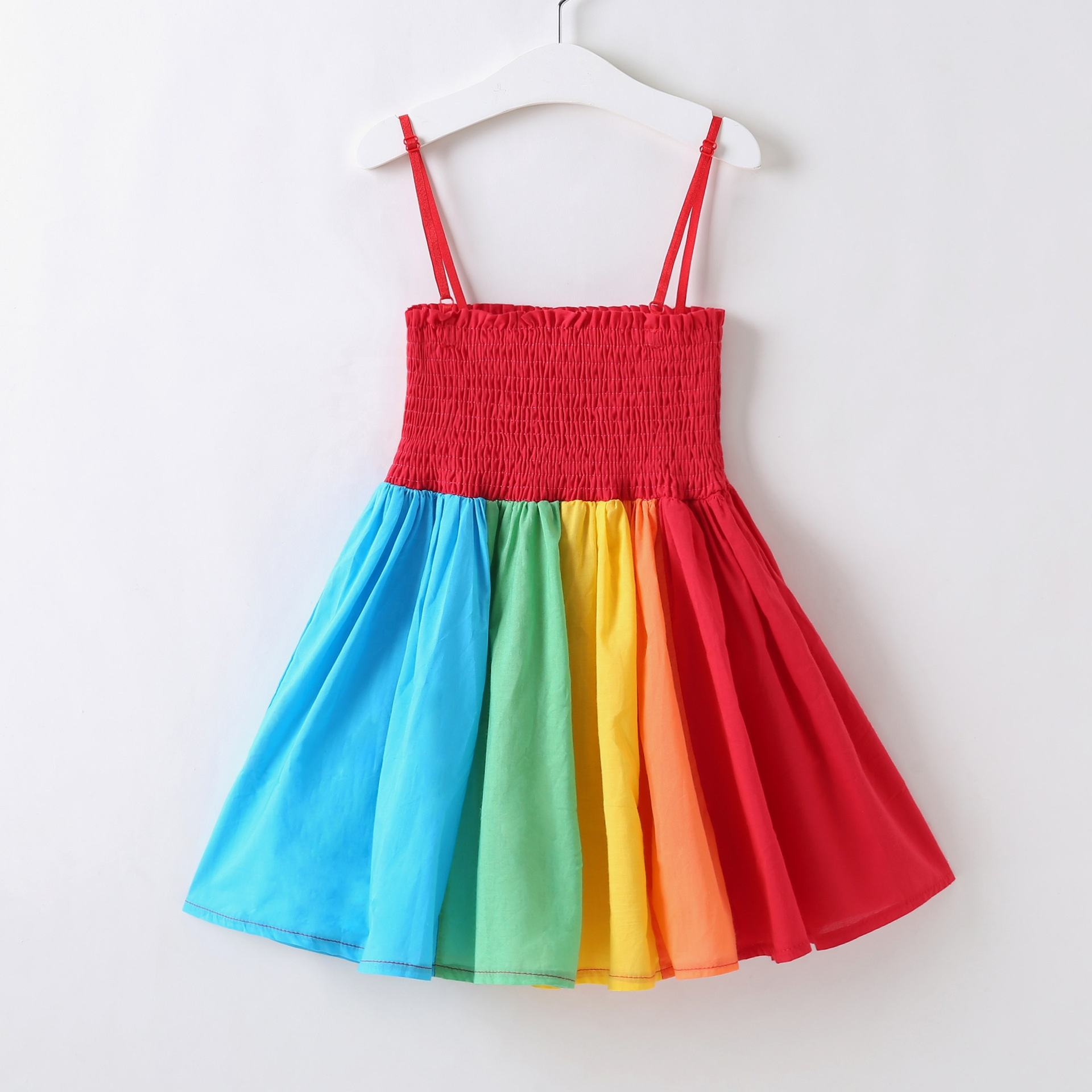 Hot Selling Baby Girls Frocks Colorful Princess Summer Cotton Red Dress For Holiday Wear
