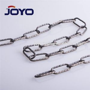 China manufacturer decorative chain square rolled chain
