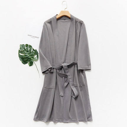 custom unisex quick dry polyester waffle bathrobe hotel spa robes couple pajama kimono bathrobe plain unisex robes