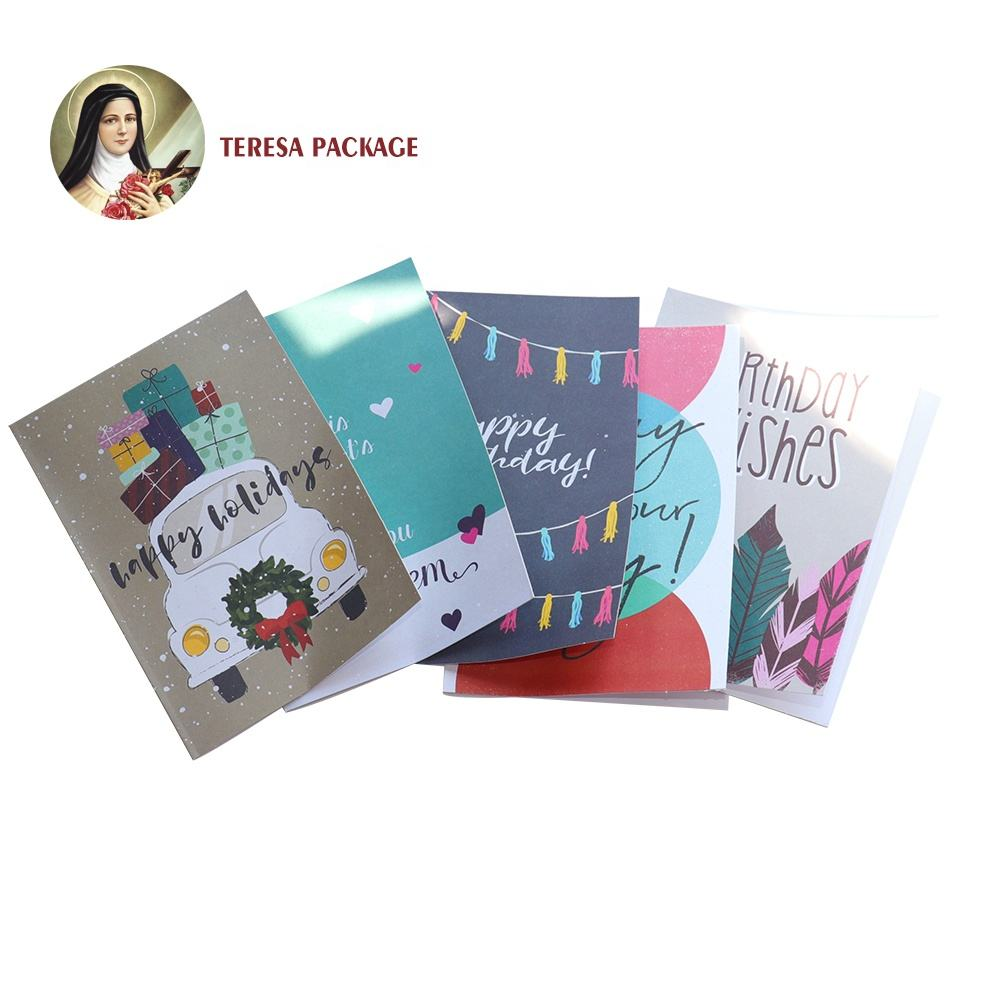 Color printed high quality designed greeting cards gift cards