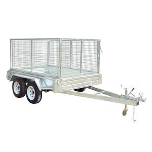 Factory manufacturing sales tandem box trailers 10x5 for farm transport