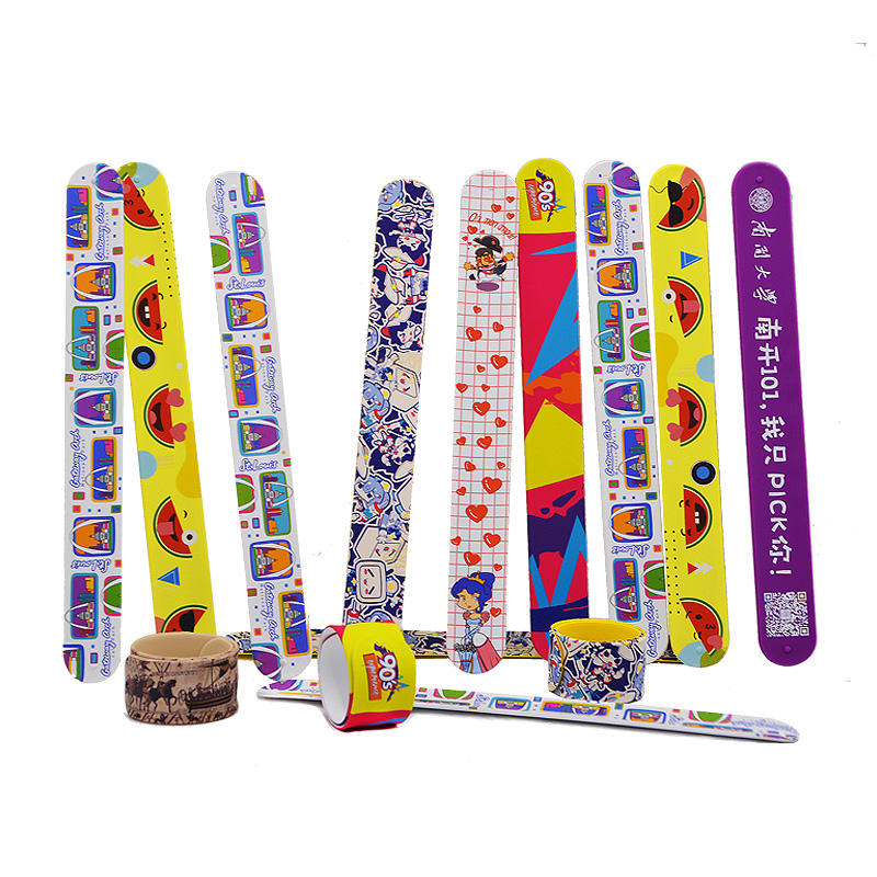 Silicone Slap Snap Band For Kids slap band, Eco-friendly Material Top Quality Printed Slap wrist band wholesale customization
