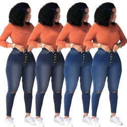2020 fall fashion of women 4XL plus size pants high waist ti