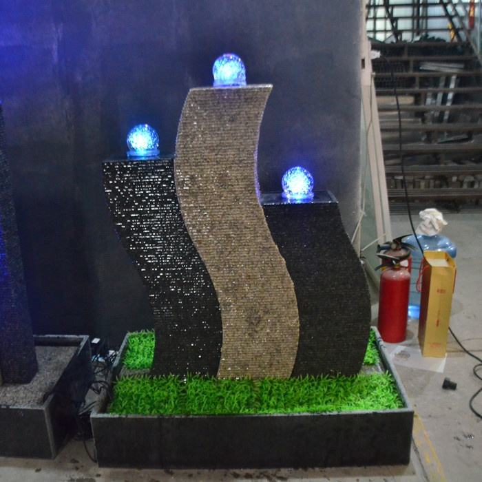 wall stone waterfall fountain artificial indoor waterfall for home garden water fall